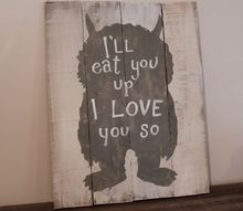 pallet sign for kids decor, crafts, how to, pallet, repurposing upcycling
