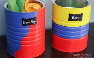 diy toy storage from old coffee cans, crafts, how to, organizing, repurposing upcycling, storage ideas