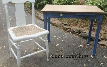 upcycled chair with broken cane, home maintenance repairs, painted furniture, repurposing upcycling