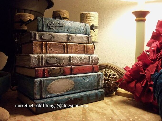 restyle your books into beautiful decor, crafts, how to, repurposing upcycling, Turn old books into wonderful decor