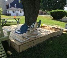 covered sandbox playdeck, decks, diy, outdoor living, woodworking projects
