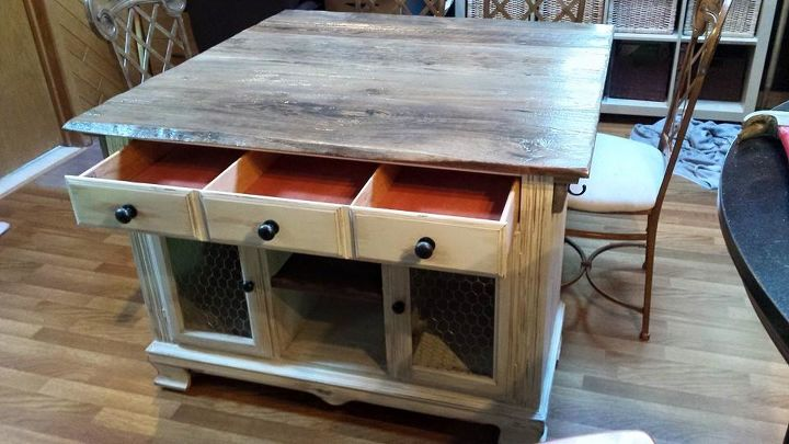 from buffet to rustic kitchen island, kitchen design, kitchen island, painted furniture, repurposing upcycling, rustic furniture