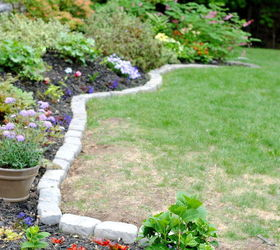 The Perfect Border For Your Beds Defining A Garden S Edge With Stone,  Concrete Masonry