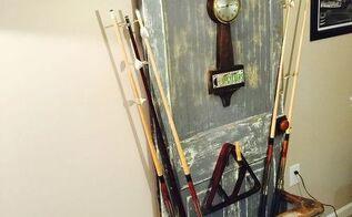vintage door pool cue holder itscentsational, doors, entertainment rec rooms
