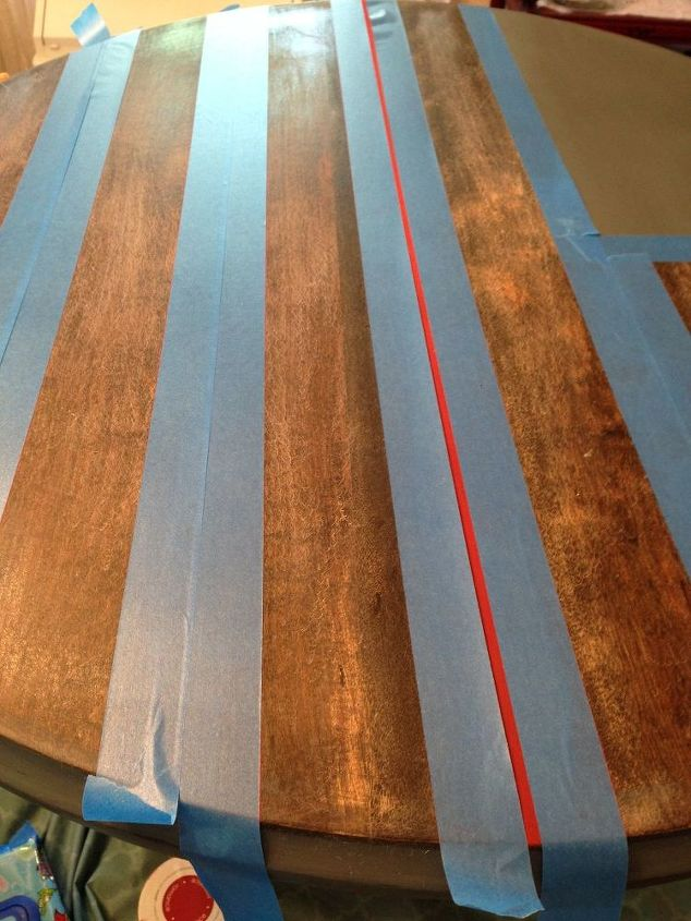 american flag coffee table diy makeover, chalk paint, outdoor furniture, painted furniture, patriotic decor ideas, porches