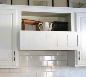 Diy Built In Range Hood Cover Cover Your Existing Hood For 20, Diy, How  OnBlissStreet