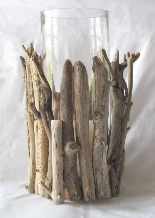 driftwood hurricane lamp diy, crafts, how to, repurposing upcycling