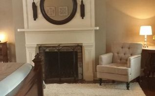 master bedroom makeover, bedroom ideas, fireplaces mantels