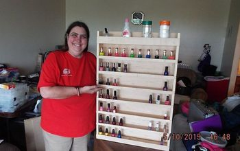 diy nail polish wood rack, crafts, diy, how to, organizing, shelving ideas, woodworking projects