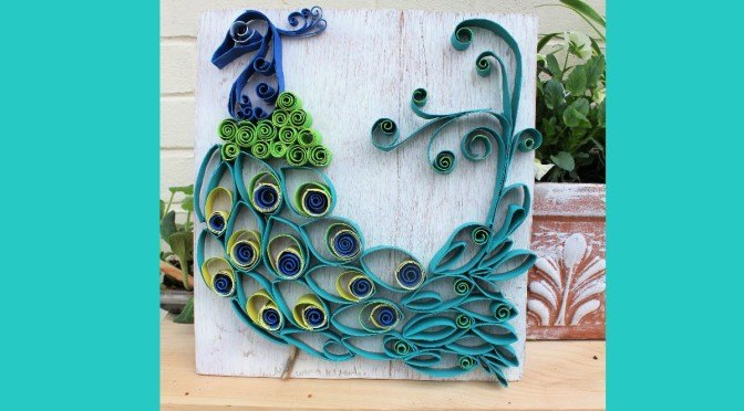 Paper Towel Roll Art Into Bohemian Rustic Peacock Crafts How To Repurposing Upcycling