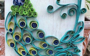 paper towel roll art into bohemian rustic peacock, crafts, how to, repurposing upcycling, wall decor