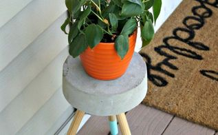 5 diy concrete plant stand, concrete masonry, container gardening, diy, gardening, how to