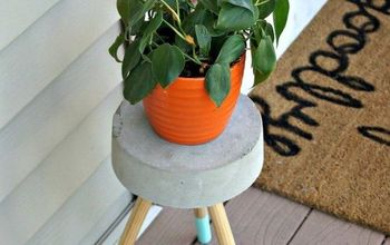5 diy concrete plant stand, concrete masonry, container gardening, diy, gardening, how to