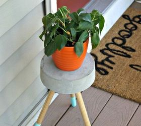 5 Diy Concrete Plant Stand, Concrete Masonry, Container Gardening, Diy,  Gardening,