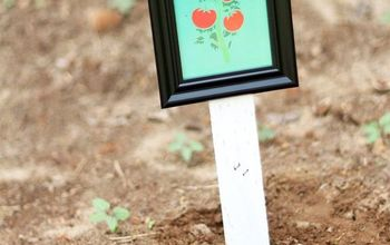 vegetable garden markers using picture frames, crafts, gardening, organizing, repurposing upcycling