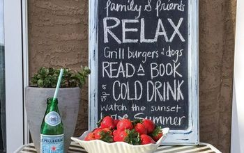 Decked Out Chalkboard Sign