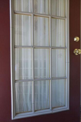 Older Front Door With Plastic Muntins Hometalk