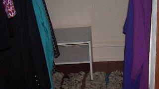 , My closet painted in Navaho white