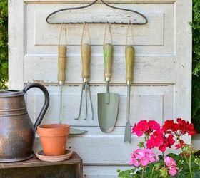 Using A Repurposed Rake To Organize Garden Tools, Gardening, Organizing,  Repurposing Upcycling,