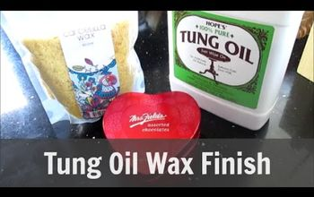 make a tung oil wax finish, how to, painted furniture