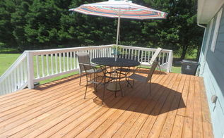 deck makeover big change for 250 00, decks, outdoor living, We love it Can t stop looking at it