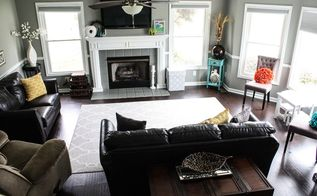 complete living room makeover before and afters, fireplaces mantels, foyer, living room ideas