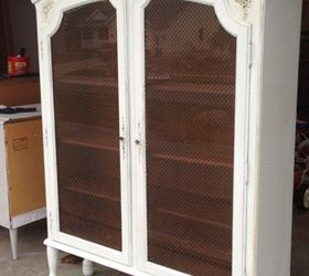 Adding Legs To A Hutch To Turn It Into A China Cabinet, Painted Furniture,