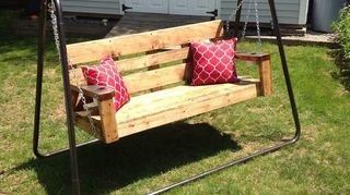 , Liked the swing easy plans Only change we made was adding cup holders in the arms