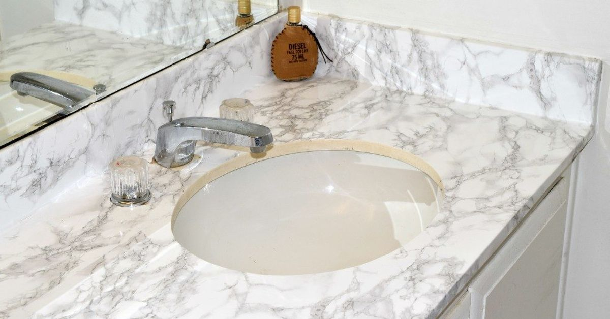 master bathroom faux marble makeover in the home hometalk