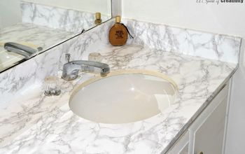 Master Bathroom Faux Marble Makeover in the Home