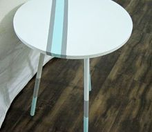 painted end table fit for a coastal living room, living room ideas, painted furniture, repurposing upcycling