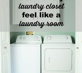 How To Make Your Laundry Closet Feel Like A Laundry Room, How To, Laundry