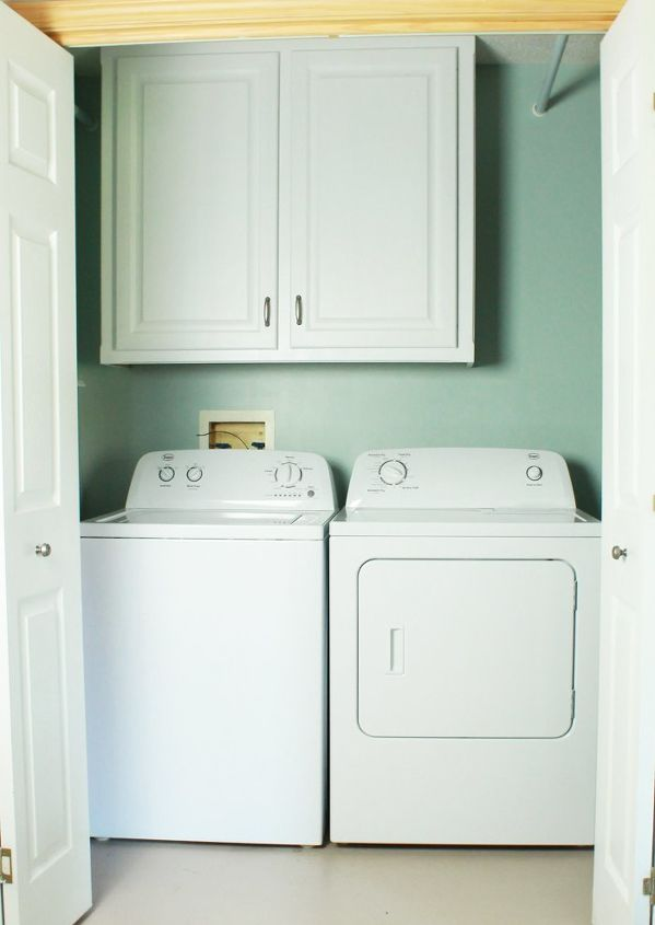 How to make your laundry closet feel like a laundry room for How to add a laundry room to your house