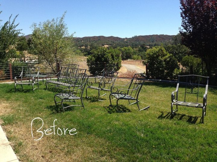 zested patio furniture, outdoor furniture, outdoor living, painted furniture, repurposing upcycling