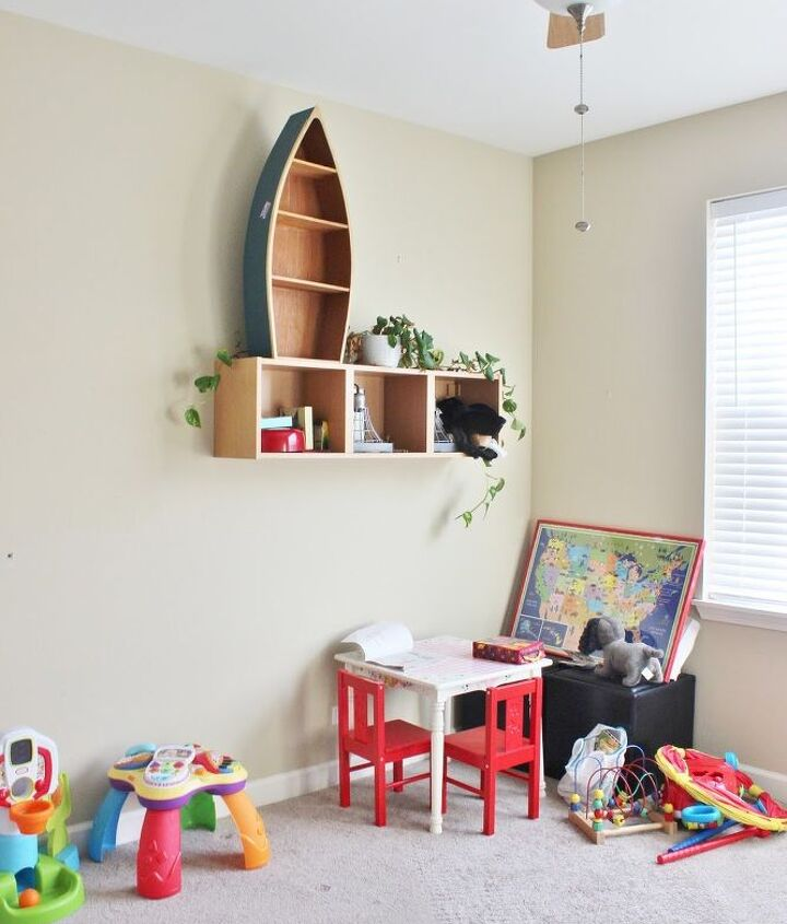 camp theme playroom makeover, entertainment rec rooms, organizing, storage ideas, wall decor