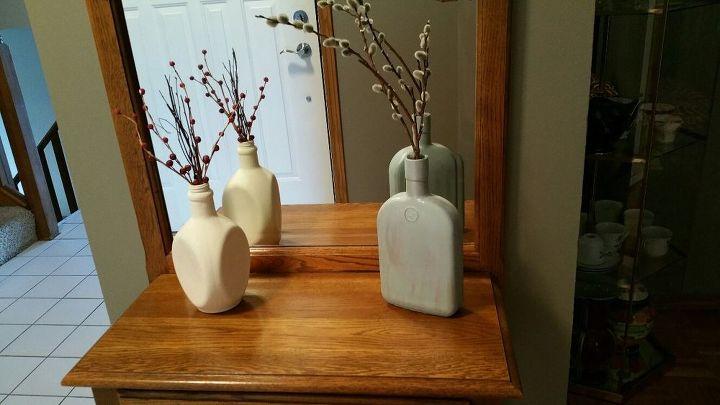 Painted Liquor Bottle Vases Hometalk