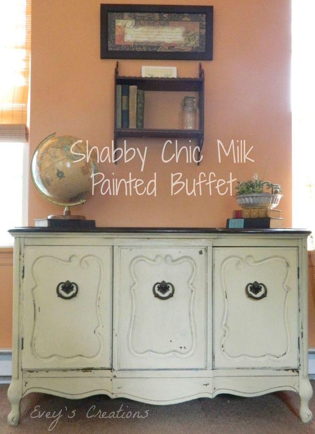 Shabby Chic Storage Milk Painted Buffet