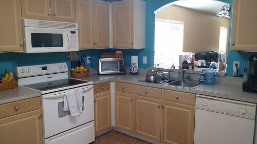 Interior Painting Particle Board Kitchen Cabinets painting particle board cabinets in mobile home hometalk we