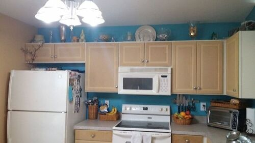 Painting particle board cabinets in mobile home. | Hometalk