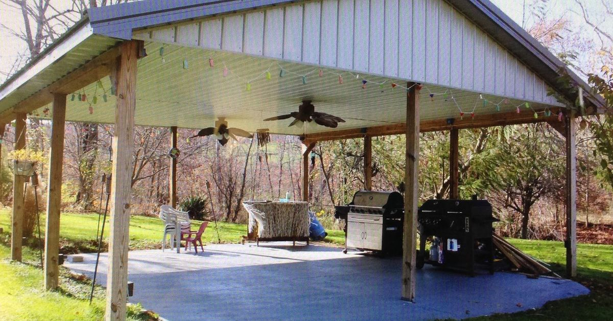 Meramac Covered Shelters : Ideas for a covered outdoor shelter area hometalk