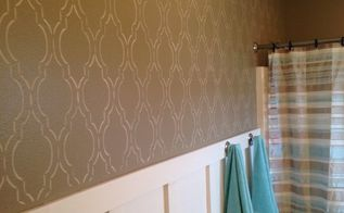 cutting edge stencils diy board and batten fabulous bathroom, bathroom ideas, how to, wall decor, woodworking projects
