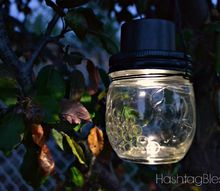 hanging mason jar solar lights, crafts, gardening, how to, lighting, mason jars, outdoor living, repurposing upcycling