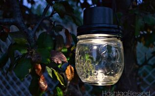 hanging mason jar solar lights, crafts, gardening, how to, lighting, mason jars, outdoor living, repurposing upcycling