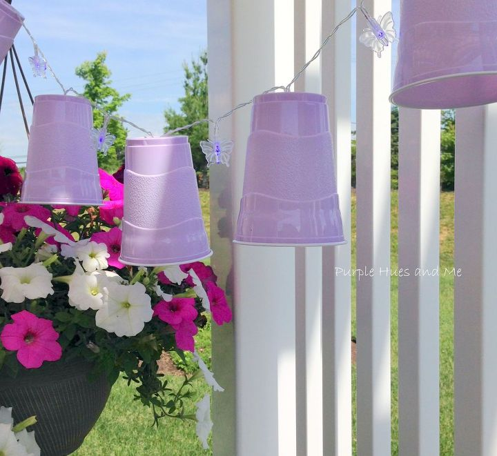 diy party cup led lights garland, crafts, how to, lighting, outdoor living, repurposing upcycling