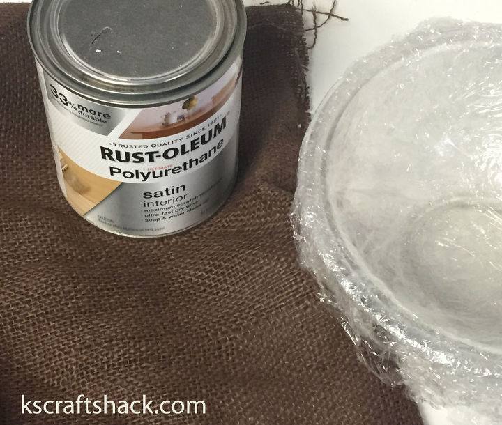 how to make an easy decorative bowl with burlap, crafts, how to, repurposing upcycling