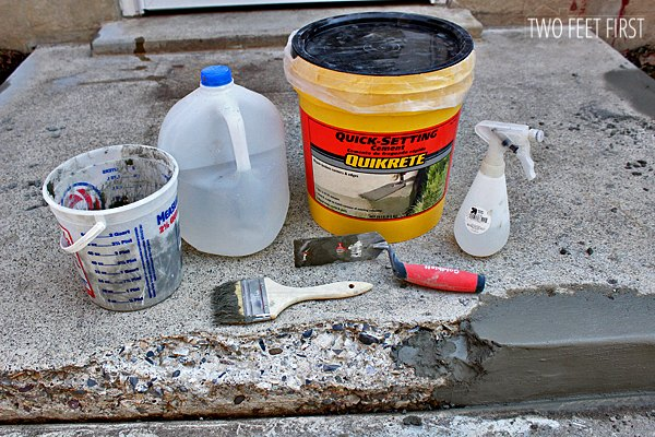 how to fix chipped concrete steps, concrete masonry, home improvement, home maintenance repairs, how to