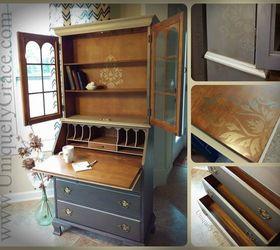 Jasper Cabinets Secretary Desk Hutch Furniture Makeover, Chalk Paint,  Painted Furniture