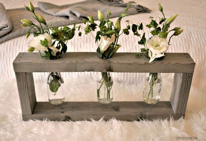 rustic wood centerpiece monthly home depot gift challenge, home decor, how  to, woodworking