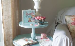 old tiered table makeover, painted furniture