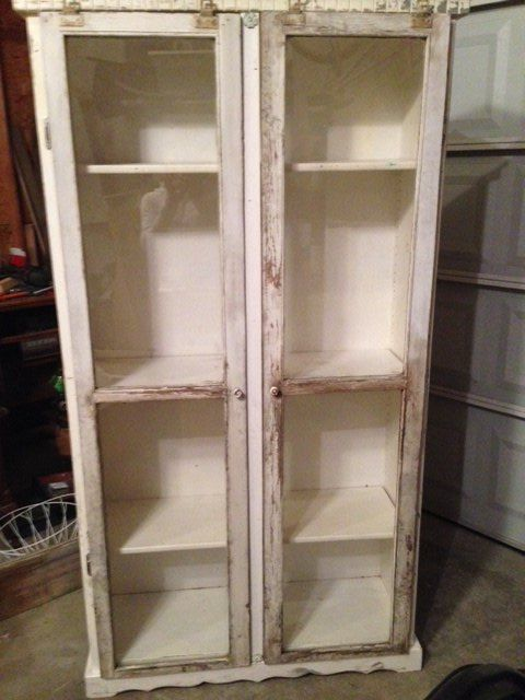 adding doors to a bookcase, painted furniture, repurposing upcycling